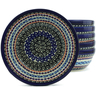 7-inch Stoneware Set of 6 Bowls - Polmedia Polish Pottery H5342J