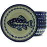 7-inch Stoneware Set of 6 Bowls - Polmedia Polish Pottery H5349J