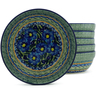 7-inch Stoneware Set of 6 Bowls - Polmedia Polish Pottery H5358J