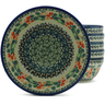 7-inch Stoneware Set of 6 Bowls - Polmedia Polish Pottery H5359J