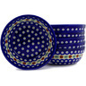 7-inch Stoneware Set of 6 Bowls - Polmedia Polish Pottery H6611E