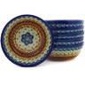 7-inch Stoneware Set of 6 Bowls - Polmedia Polish Pottery H6634E