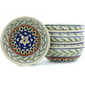 7-inch Stoneware Set of 6 Bowls - Polmedia Polish Pottery H6637E