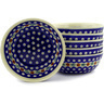 7-inch Stoneware Set of 6 Bowls - Polmedia Polish Pottery H6647E
