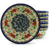 7-inch Stoneware Set of 6 Bowls - Polmedia Polish Pottery H7731H