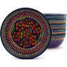 7-inch Stoneware Set of 6 Bowls - Polmedia Polish Pottery H8886F