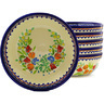 7-inch Stoneware Set of 6 Bowls - Polmedia Polish Pottery H8891F