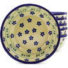 7-inch Stoneware Set of 6 Bowls - Polmedia Polish Pottery H8973F