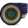 7-inch Stoneware Set of 6 Bowls - Polmedia Polish Pottery H8974F