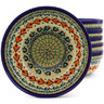 7-inch Stoneware Set of 6 Bowls - Polmedia Polish Pottery H8975F