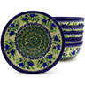7-inch Stoneware Set of 6 Bowls - Polmedia Polish Pottery H8988F