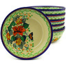 7-inch Stoneware Set of 6 Bowls - Polmedia Polish Pottery H8999F