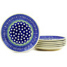 7-inch Stoneware Set of 6 Plates - Polmedia Polish Pottery H2708E