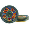 7-inch Stoneware Set of 6 Plates - Polmedia Polish Pottery H3076E