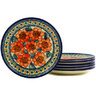 7-inch Stoneware Set of 6 Plates - Polmedia Polish Pottery H3078E