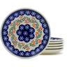 7-inch Stoneware Set of 6 Plates - Polmedia Polish Pottery H3607J
