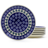 7-inch Stoneware Set of 6 Plates - Polmedia Polish Pottery H3608J
