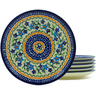 7-inch Stoneware Set of 6 Plates - Polmedia Polish Pottery H3609J