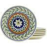 7-inch Stoneware Set of 6 Plates - Polmedia Polish Pottery H4934J