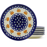 7-inch Stoneware Set of 6 Plates - Polmedia Polish Pottery H4937J