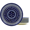 7-inch Stoneware Set of 6 Plates - Polmedia Polish Pottery H4938J