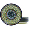 7-inch Stoneware Set of 6 Plates - Polmedia Polish Pottery H5398J