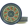 7-inch Stoneware Set of 6 Plates - Polmedia Polish Pottery H5408J