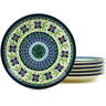 7-inch Stoneware Set of 6 Plates - Polmedia Polish Pottery H5978I