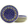 7-inch Stoneware Set of 6 Plates - Polmedia Polish Pottery H6629E
