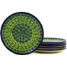 7-inch Stoneware Set of 6 Plates - Polmedia Polish Pottery H6640E
