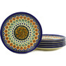 7-inch Stoneware Set of 6 Plates - Polmedia Polish Pottery H6649E