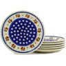 7-inch Stoneware Set of 6 Plates - Polmedia Polish Pottery H6651E