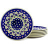 7-inch Stoneware Set of 6 Plates - Polmedia Polish Pottery H6653E