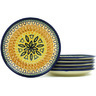 7-inch Stoneware Set of 6 Plates - Polmedia Polish Pottery H7701H