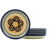 7-inch Stoneware Set of 6 Plates - Polmedia Polish Pottery H7704H
