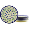 7-inch Stoneware Set of 6 Plates - Polmedia Polish Pottery H8824F