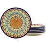 7-inch Stoneware Set of 6 Plates - Polmedia Polish Pottery H8826F