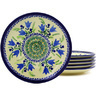 7-inch Stoneware Set of 6 Plates - Polmedia Polish Pottery H8852F