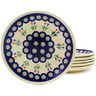 7-inch Stoneware Set of 6 Plates - Polmedia Polish Pottery H8911F