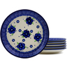 7-inch Stoneware Set of 6 Plates - Polmedia Polish Pottery H9982J
