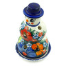 7-inch Stoneware Snowman Candle Holder - Polmedia Polish Pottery H7894C