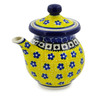 7 oz Stoneware Creamer with Lid - Polmedia Polish Pottery H2111K