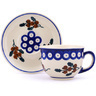 7 oz Stoneware Cup with Saucer - Polmedia Polish Pottery H0408H