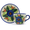 7 oz Stoneware Cup with Saucer - Polmedia Polish Pottery H0583H