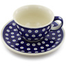 7 oz Stoneware Cup with Saucer - Polmedia Polish Pottery H0634A