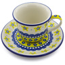 7 oz Stoneware Cup with Saucer - Polmedia Polish Pottery H1300B