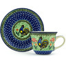 7 oz Stoneware Cup with Saucer - Polmedia Polish Pottery H2162H