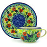 7 oz Stoneware Cup with Saucer - Polmedia Polish Pottery H3242G