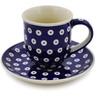 7 oz Stoneware Cup with Saucer - Polmedia Polish Pottery H3251K