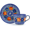 7 oz Stoneware Cup with Saucer - Polmedia Polish Pottery H3511H
